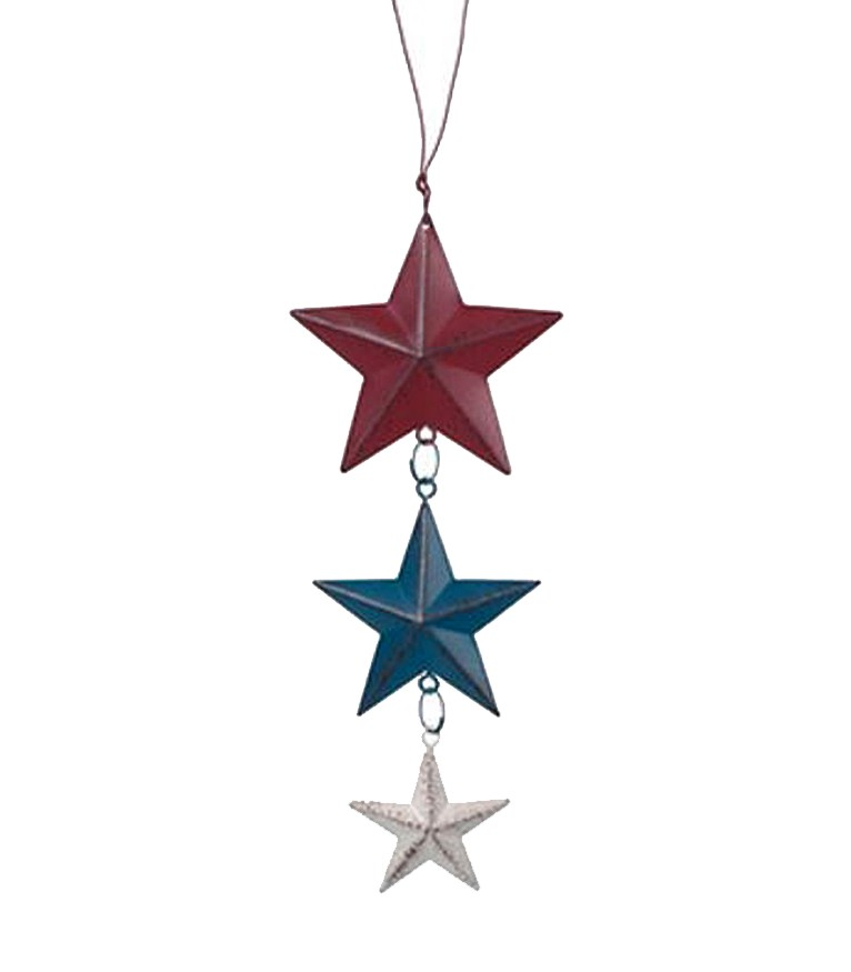 Red White & Blue Stars Dangle Ornament