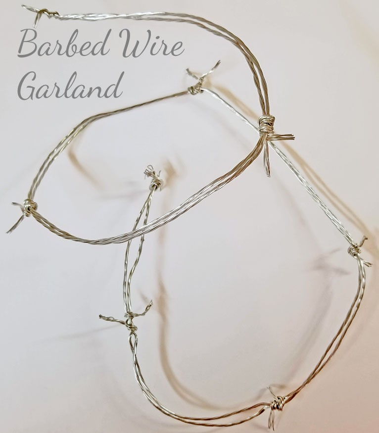 Faux Barbed Wire Cowboy Christmas Garland