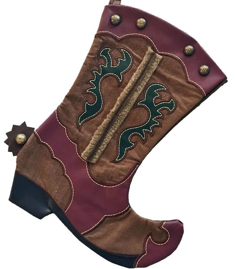 Cowboy Boot Stocking with Spur Wild West