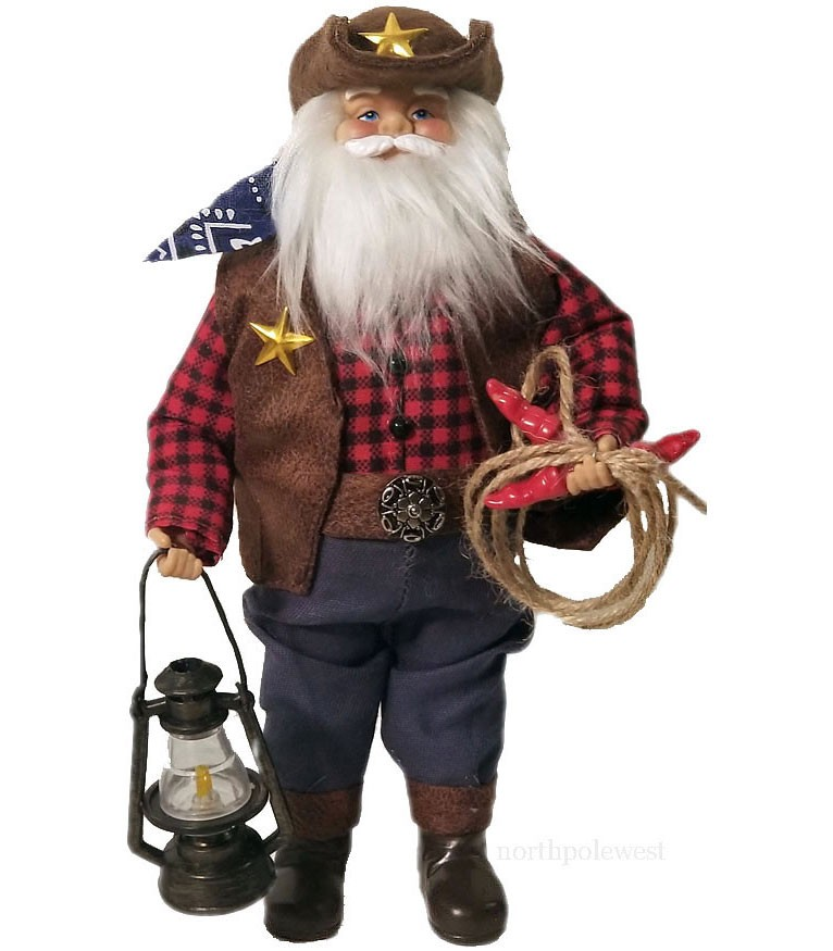Cowboy Santa with Lantern & Chili Lasso