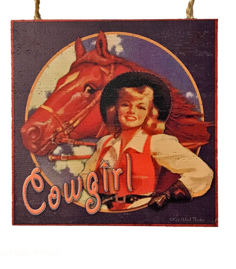 'Cowgirl' -  Old West Style Ornament