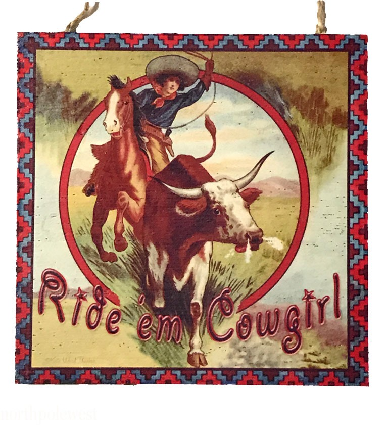 'Ride em' Cowgirl' -  Old West Style Ornament