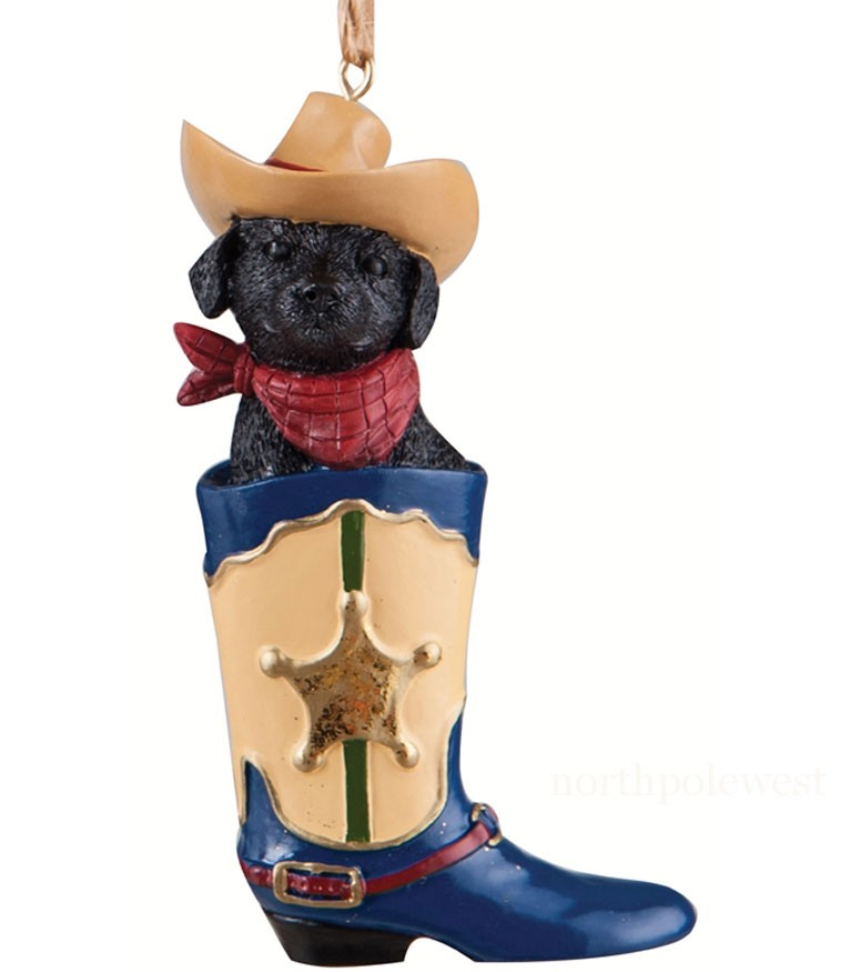 Cowboy Dog in Cowboy Boot -