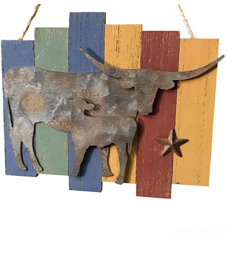 Western Longhorn  Plaque Ornament
