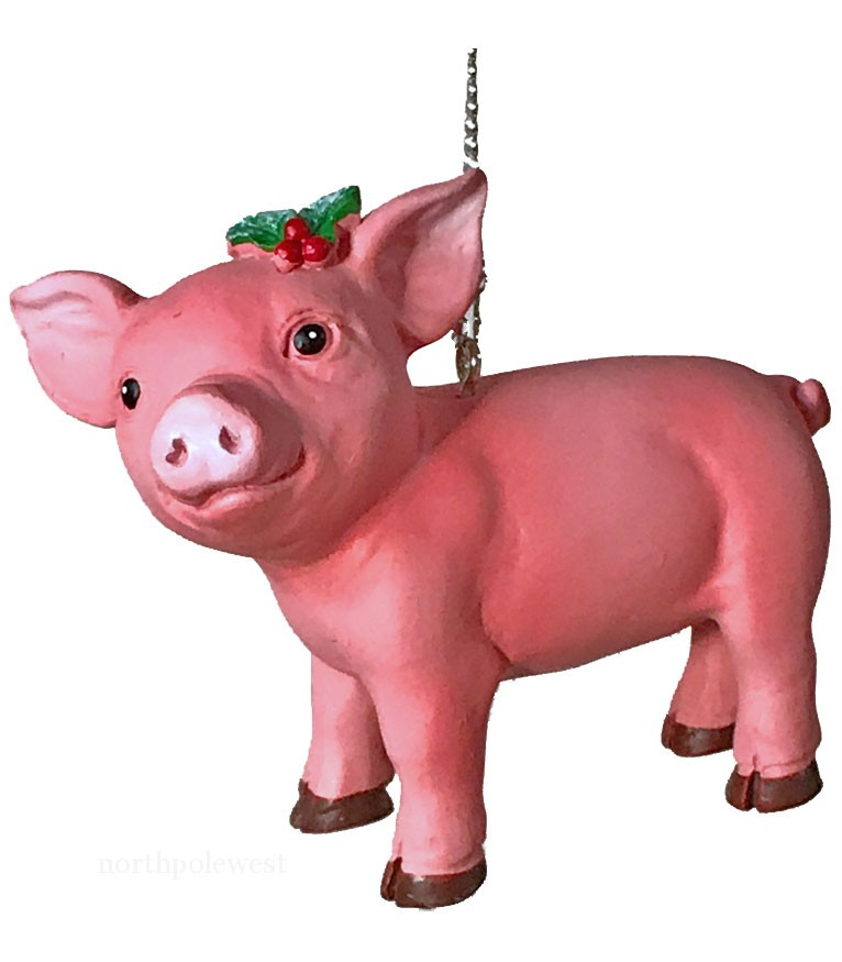 Lucky Pig Christmas Ornament
