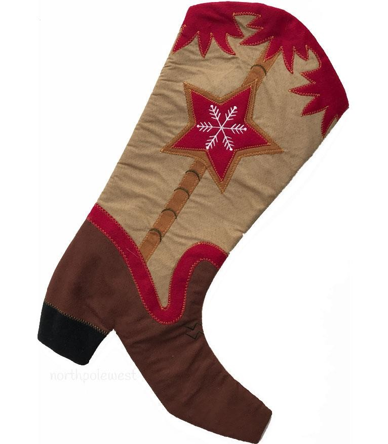 Cowboy Boot Stocking-