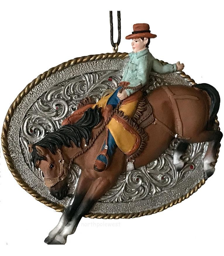 Cowboy Bronc Buster Rodeo Christmas Ornament