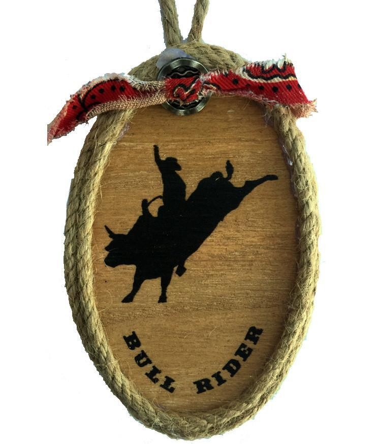 Cowboy Christmas Ornament - Rodeo Bull Rider