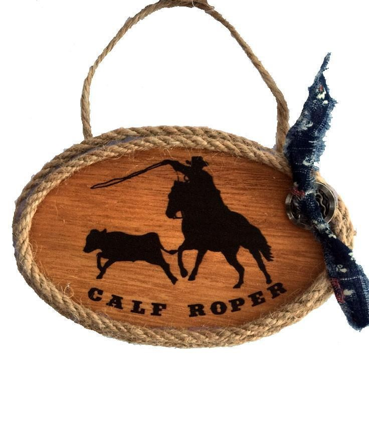 Cowboy Christmas Ornament - Rodeo Calf Roper