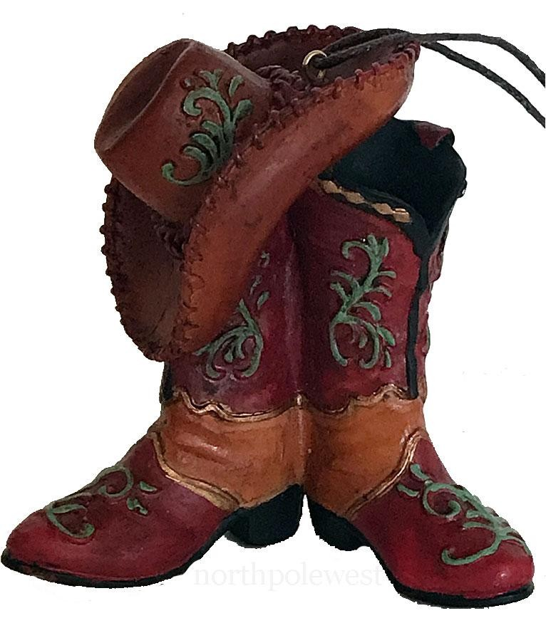 Cowboy Christmas Ornament- Fancy Cowboy Boots and Hat