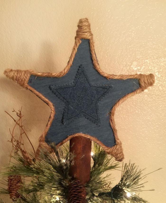 Cowboy Christmas Tree Star Topper