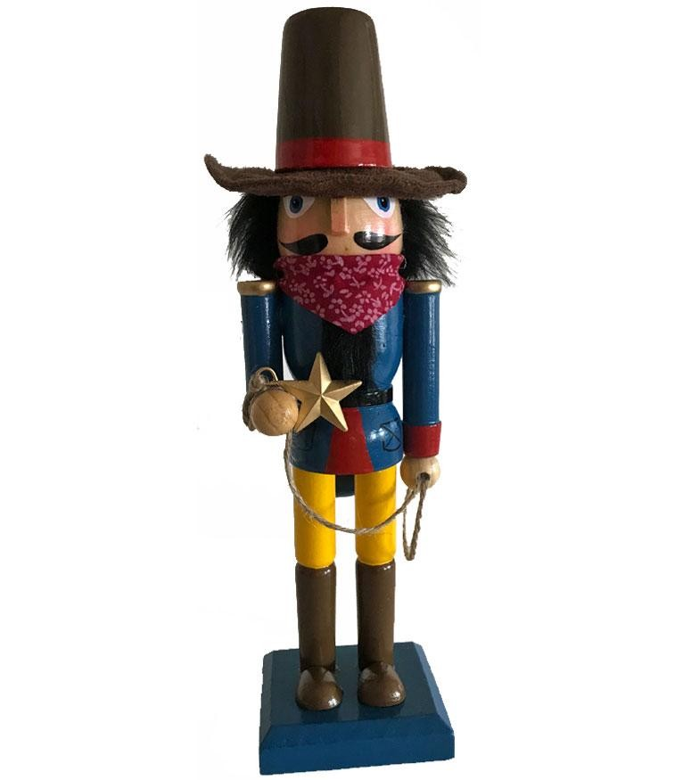 Cowboy Nutcracker - Colorful Cowboy