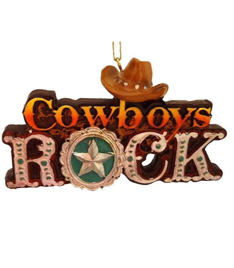 Cowboys Rock Ornament -Sale