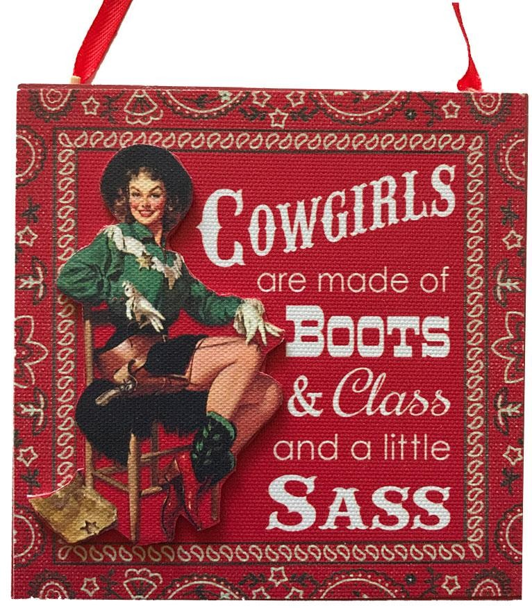 Cowgirls are Boots Class & Sass Christmas Ornament