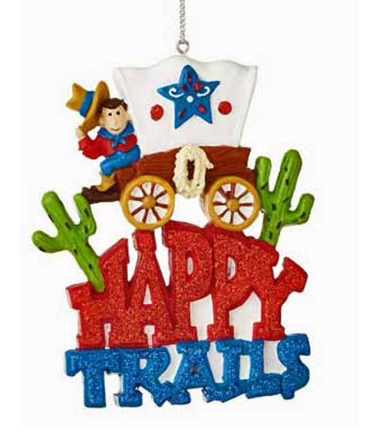 Happy Trails Covered Wagon Ornament