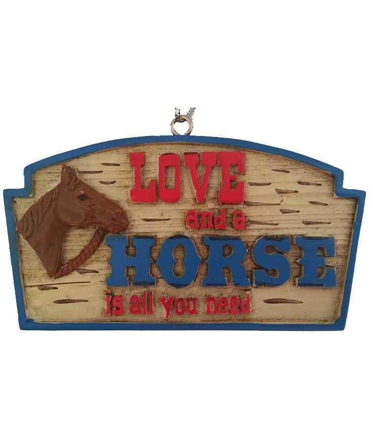 Horse Ornament - Love and Horse Sign