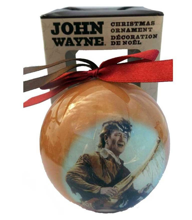 John Wayne Ball Ornament -Yellow