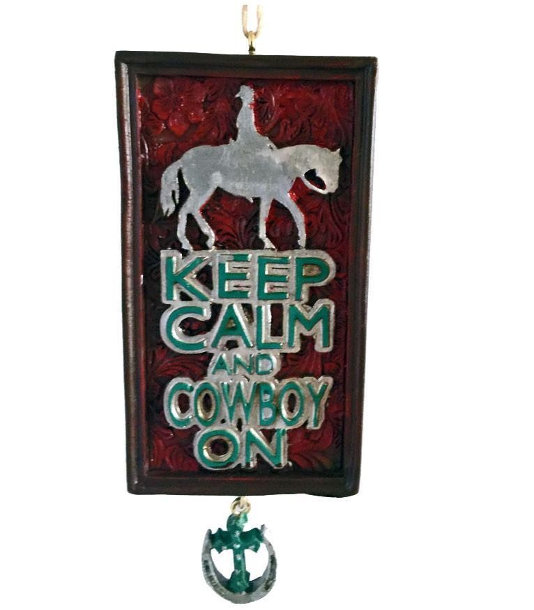 Keep Calm and Cowboy On Ornament - Sale