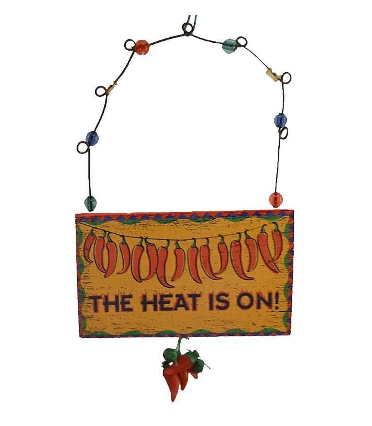 Chili Pepper Sign Decoration - The Heat is On