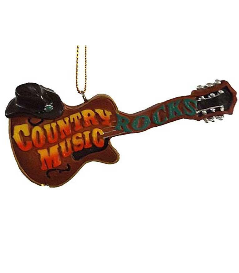 Country Music Christmas Ornament - Country Music Rocks