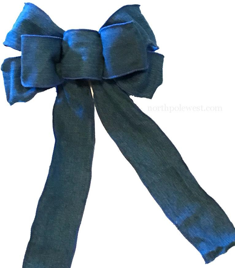 Country Western Blue Denim Bow