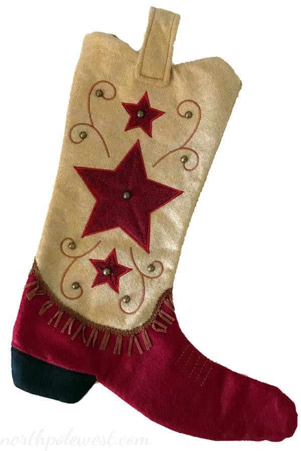 Cowboy Boot Christmas Stocking -