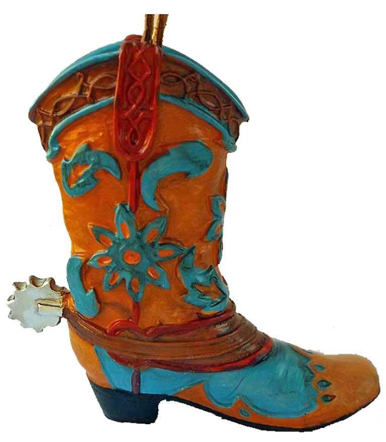 Cowboy Boot Ornament- Painted Desert Wildflowers