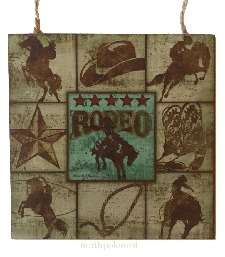 Old West Style Rodeo Ornament