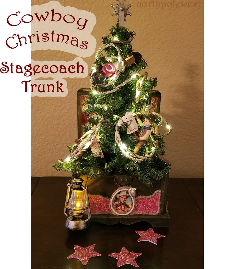 Cowboy Christmas Stagecoach Trunk - Unique Holiday Decor